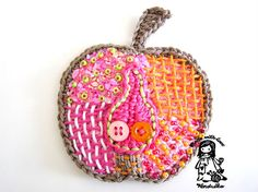 apple applique~ crochet pattern available for purchase on etsy