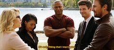 Oliver Queen asking Diggle to marry him and Felicity Smoak in Crisis on Earth-X.