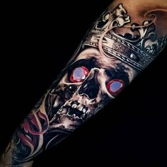 Skull King tattoo by YZ Asencio