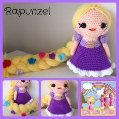 Darcy's Dolls Rapunzel, Tangled crochet doll.    www.facebook.com/Darcysdolls