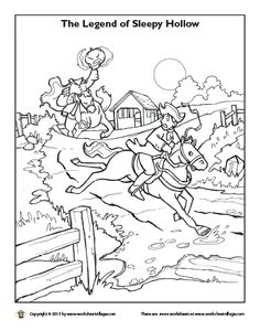 sleepy hollow coloring pages headless horseman coloring page - Headless Horseman Coloring Pages