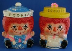 Raggedy Ann & Andy Cookie Jars