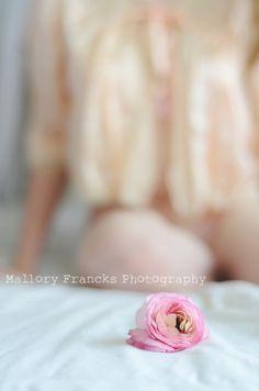 Mallory Francks Photography www.malloryfrancksphotography.com Boudoir, feminine, pastel, light, lace, peach, flower, ranunculus, pink, sexy, female, woman, salt lake city photographer, photography, utah photographer, slc boudoir photographer, beauty, natural light, bokeh