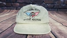 Vintage 90s corduroy Snapback Cap Hat Southern States vehicle auction  Trucker  Cap  Everyday cd0e32b54a17