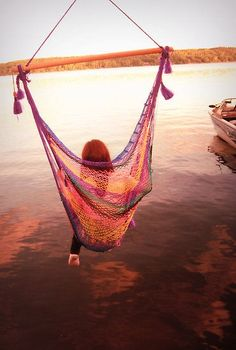 Serenity - this would be my dream relaxation zone. A hammock over water #SWSHAREYOURLIFE