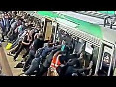 Perth commuters lift train to free man's leg Perth, Train, Videos, Free, Strollers
