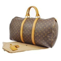 Louis Vuitton Keepall 50 Travel Hand Monogram Brown Travel Bag. Save 70% on the Louis Vuitton Keepall 50 Travel Hand Monogram Brown Travel Bag! This travel bag is a top 10 member favorite on Tradesy. See how much you can save