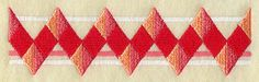 Harlequin Border design (F3937) from www.Emblibrary.com