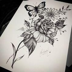 Unique Half Sleeve Tattoos, Cool Wrist Tattoos, Flower Thigh Tattoos, Knee Tattoo, Dope Tattoos, Girly Tattoos, Arm Tattoo, Small Tattoos, Tatoos