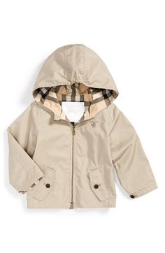 Burberry 'Bryce' Hooded Cotton Jacket (Baby Boys) available at #Nordstrom