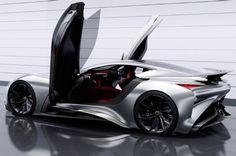 Infiniti Unveils Concept Vision Gran Turismo: Virtual Supercar for Gran Turismo Infiniti has created the Concept Vision Gran Turismo virtual supercar for the PlayStation 3 racing 2015 Infiniti, Nissan Infiniti, Ps3, Playstation, Supercars, Hypebeast, Beast Videos, Concept Album, Futuristic Cars