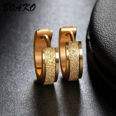 Mens Earrings Studs, Gold Earrings Designs, Tiny Stud Earrings, Simple Earrings, Rose Gold Earrings, Round Earrings, Ear Studs, Silver Hoop Earrings, Women's Earrings