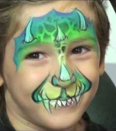 troll face paint for boys . troll face painting for boys Face Painting Tutorials, Face Painting Designs, Painting Patterns, Paint Designs, Dinosaur Face Painting, Dragon Face Painting, Youtube Halloween, Halloween Tutorial, Halloween Ideas