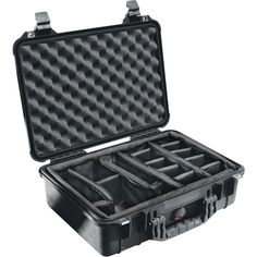 """Pelican Case With Padded Divider (1500 Case; Dim: 16.75""""l X 11.18""""w X 6.12""""h)"""