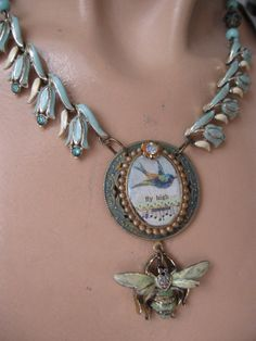 Fly High ... repurposed vintage Coro tulip bird by OhMyGypsySoul, $72.00