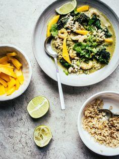 homemade curry paste + mango & coconut curry