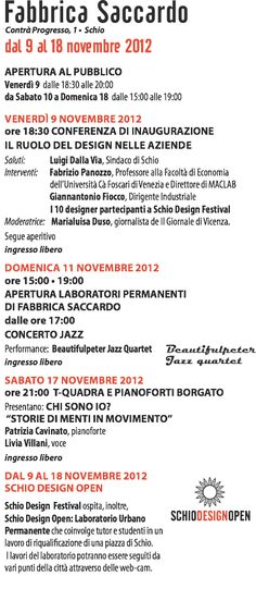 Schio Design Festival - 9-18 novembre 2012 a Schio (VI)
