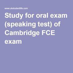 Study for oral exam (speaking test) of Cambridge FCE exam