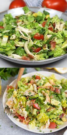 Avocado Salad Recipes, Avocado Chicken Salad, Bacon Avocado, Healthy Salad Recipes, Vegetarian Recipes, Cooking Recipes, Broccoli Salad, Avocado Salad Dressings, Healthy Chicken Salads