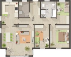 Berger Massivhaus extrem cooler grundriss für einen bungalow bärenhaus bungalow