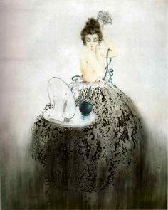Louis Icart (1880-1950) Art Deco Artist ~ Spanish Comb