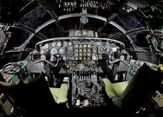 Detailed image of the CONVAIR B-36 Peacemaker Long-Range Strategic Heavy Bomber Aircraft aircraft cockpit