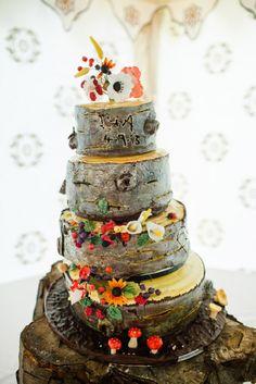Abi & Lisa's Forest Wedding Cake