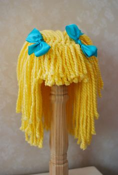Yarn Hair Wig Toddler Size Yellow Blonde With by WillowWardrobe, $26.95