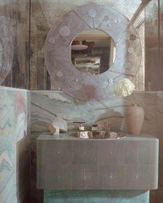 KELLY WEARSTLER | INTERIORS. Malibu Beach House, Powder Room