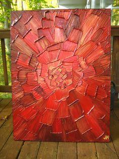 Big Abstract Painting Custom Original Heavy por artoftexture