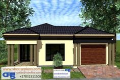 Tuscan House Plans, My House Plans, Family House Plans, Modern House Plans, Flat Roof House Designs, House Roof Design, Three Bedroom House Plan, Beautiful House Plans, Home Design Plans