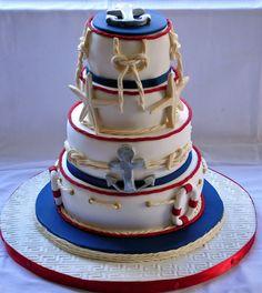 Natuical themed cake