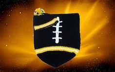 Pittsburgh Steelers Baby Football Cocoon & Hat (Newborn to 3 months) on Etsy, $40.00