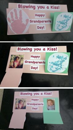 Blow a kiss to long distance grandparents! This is a great idea for holidays or just to send a thoughtful gift!                                                                                                                                                                                 More