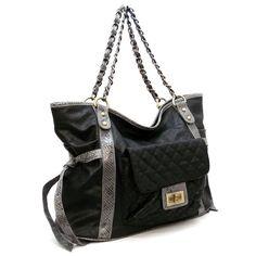 Handbagmadness - Designer inspired handbag 20275 BLACK, $19.99…