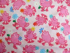 pink frog fabric