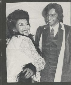Barry Manilow and his mom