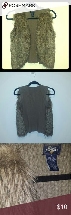 Blue Asphalt Faux Fur Vest Very stylish and soft faux fur vest. Only worn a couple of times.  Feel free to make an offer!  I can't say YES if you don't ask! ☺ Blue Asphalt Jackets & Coats Vests