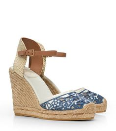 34027276516539 Tory Burch Lucia Lace Wedge Espadrille   Women s View All