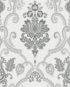 Sandringham by Albany - Beige : Wallpaper Direct Accent Wallpaper, Beige Wallpaper, Print Wallpaper, Fabric Wallpaper, Pattern Wallpaper, Textile Prints, Textile Patterns, Vinyl Paper, Turkish Art