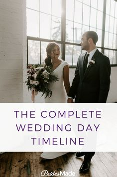 The complete wedding day timeline. How to make the perfect wedding day schedule.