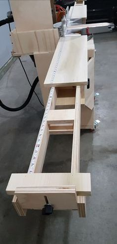 Miter saw cart with dust hood, thien dust seperator. Dewalt 779 - by Revhard @ ~ woodworking community Awesome Woodworking Ideas, Best Woodworking Tools, Woodworking For Kids, Woodworking Joints, Woodworking Workbench, Woodworking Workshop, Woodworking Furniture, Woodworking Projects, Woodworking Logo