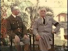 Franklin D. Roosevelt and Winston Churchill  North Africa 1943 Color Part 2