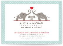 Elephant Family Baby Shower Invitations - Minted.com