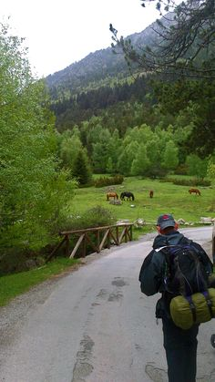 Foto de Eladio Blanco - Concurso Duscholux. #montaña #verde #backpack