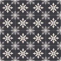 """Moroccan Mosaic Tile House Azrou 8"""" x 8"""" Handmade Cement Tile in Black, White and Gray & Reviews   Wayfair"""