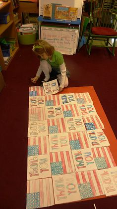 Veteran's Day project!  <3 this idea for the hallway and then off to the Vet's Home!
