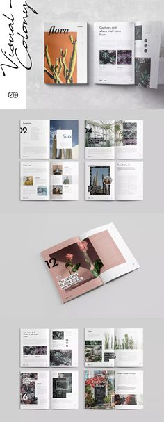 layout ideas Flora Magazine Template - Brochure Design The more you study and learn about beer makin Template Brochure, Design Brochure, Brochure Layout, Corporate Brochure, Corporate Design, Graphisches Design, Buch Design, Page Design, Design Trends