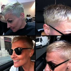 Pelo corto platino short blond hair