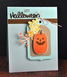 Happy Halloween Card by Dawn McVey for Papertrey Ink (August 2016)